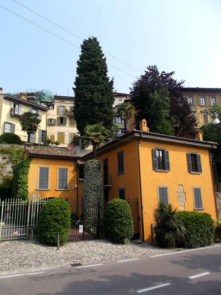 Die hübsche Altstadt und Oberstadt - Citta Alta - von Bergamo