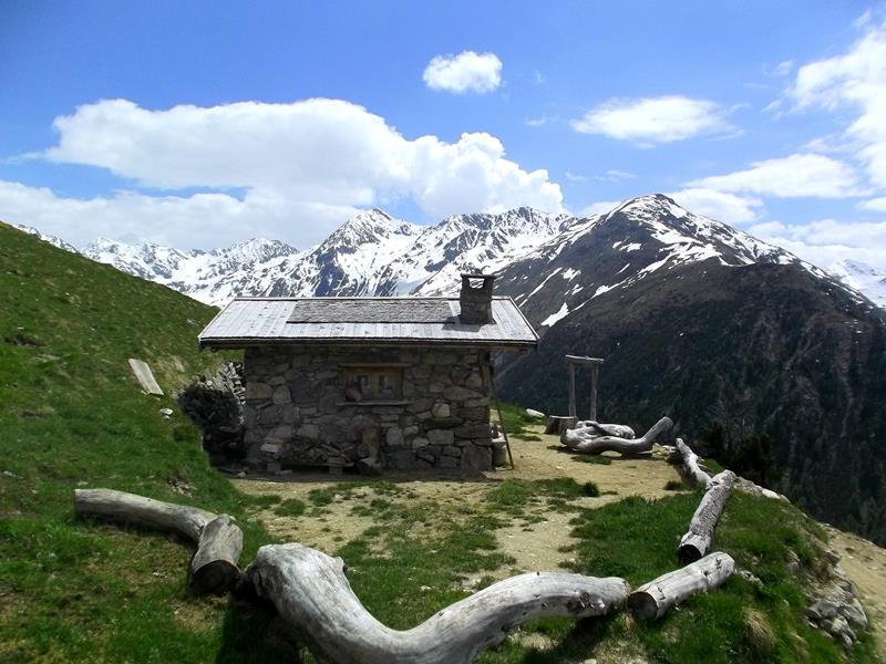 Die Bergwelt von Livigno im Norden von Italien