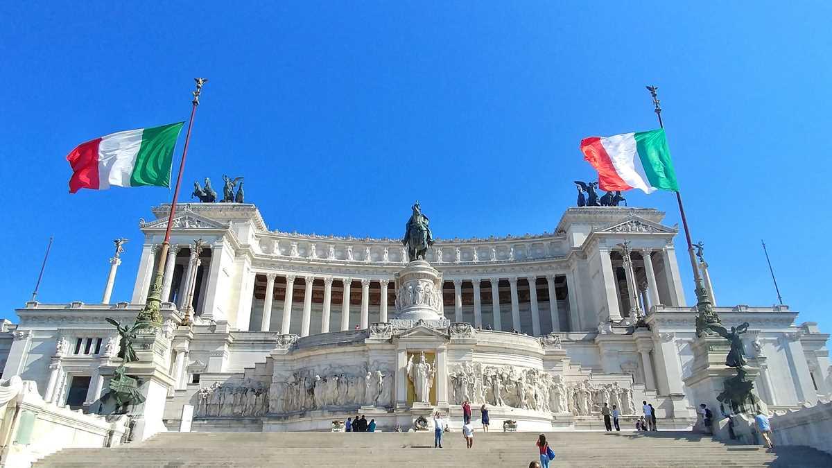 Das Nationaldenkmal Viktor Emmanuel II in Rom