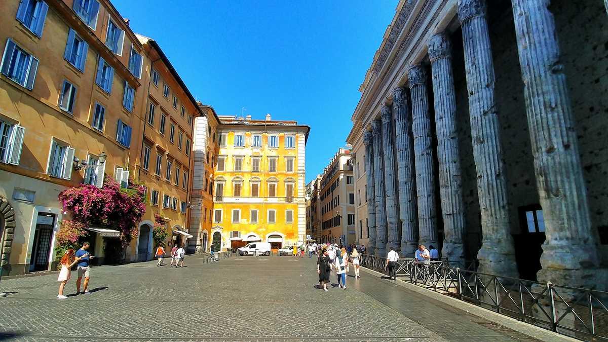 Die hübsche Altstadt von Rom, der Hauptstadt von Italien