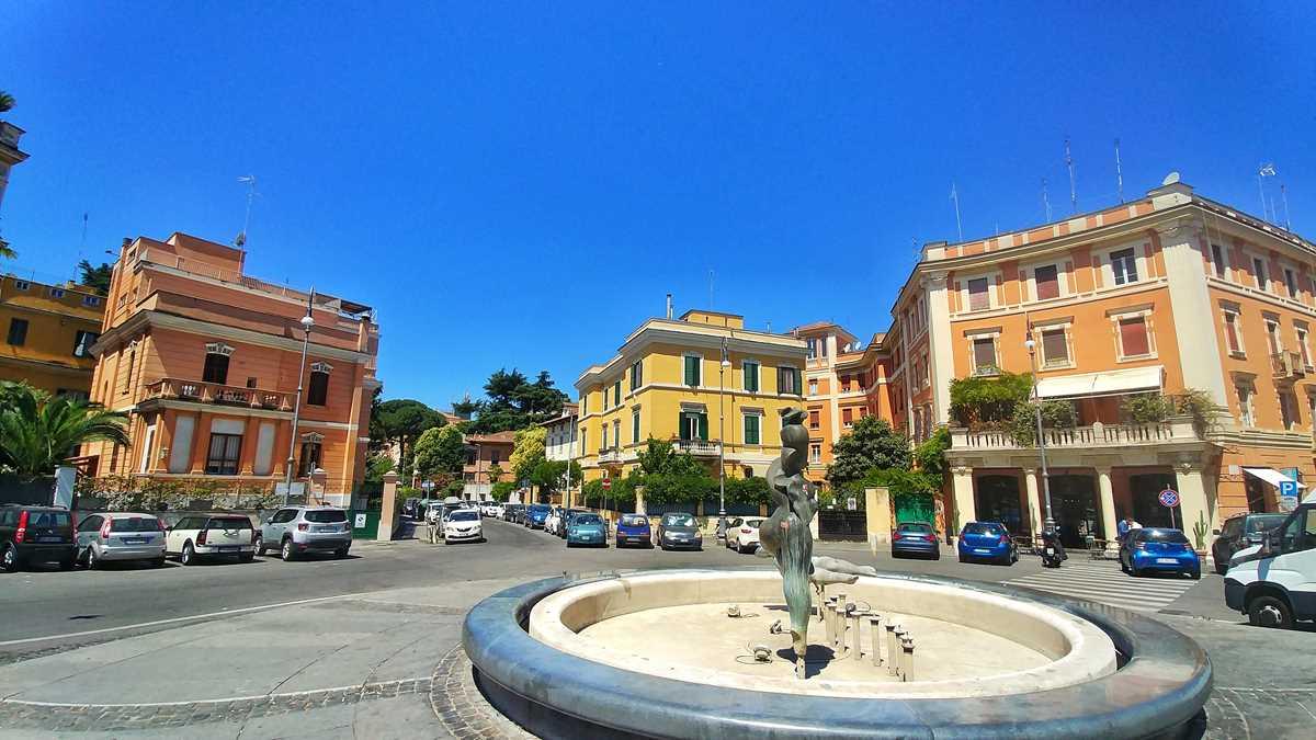 Hübsche Wohnviertel außerhalb von Roms Altstadt, hier in der Gegend Trieste