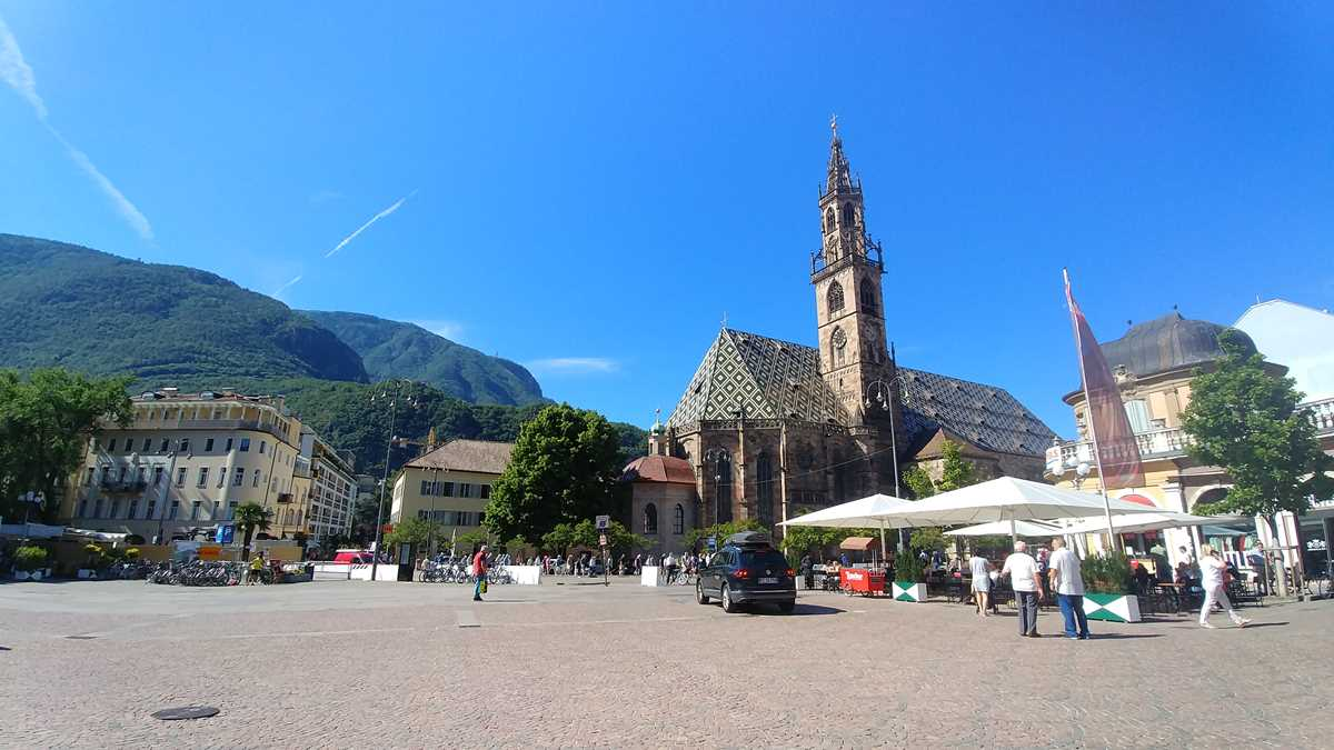 Die wunderschöne und historische Altstadt von Bozen in Südtirol