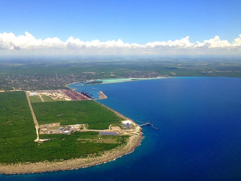 Ausblick auf Boca Chica auf dem Flug mit JetBlue von Santo Domingo nach San Juan