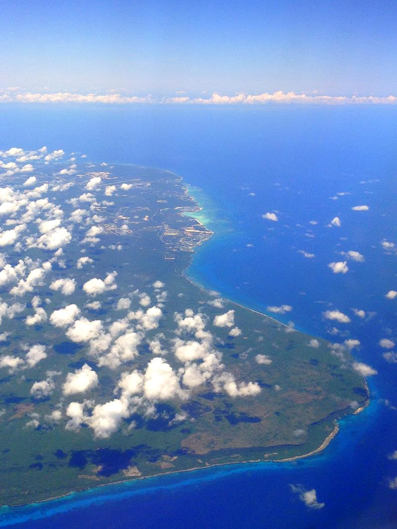 Ausblick auf die Ostküste der Dominikanischen Republikauf dem Flug mit JetBlue von Santo Domingo nach San Juan