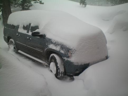 Unser Auto nach einem Blizzard