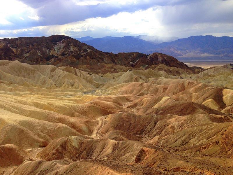 Zabriskie Point, ein Aussichtspunkt in der Nähe des Death Valleys