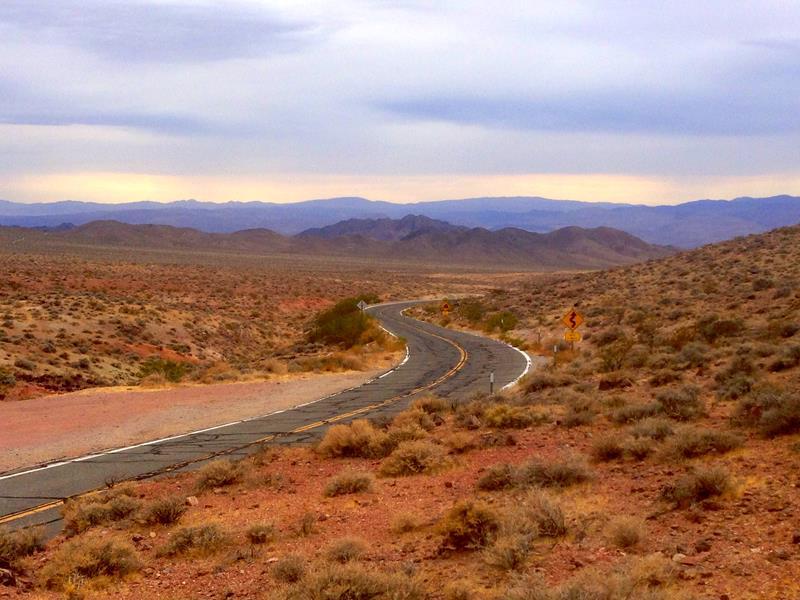 Der Salisbury Pass am Ausgang des Death Valley in Richtung Shoshane