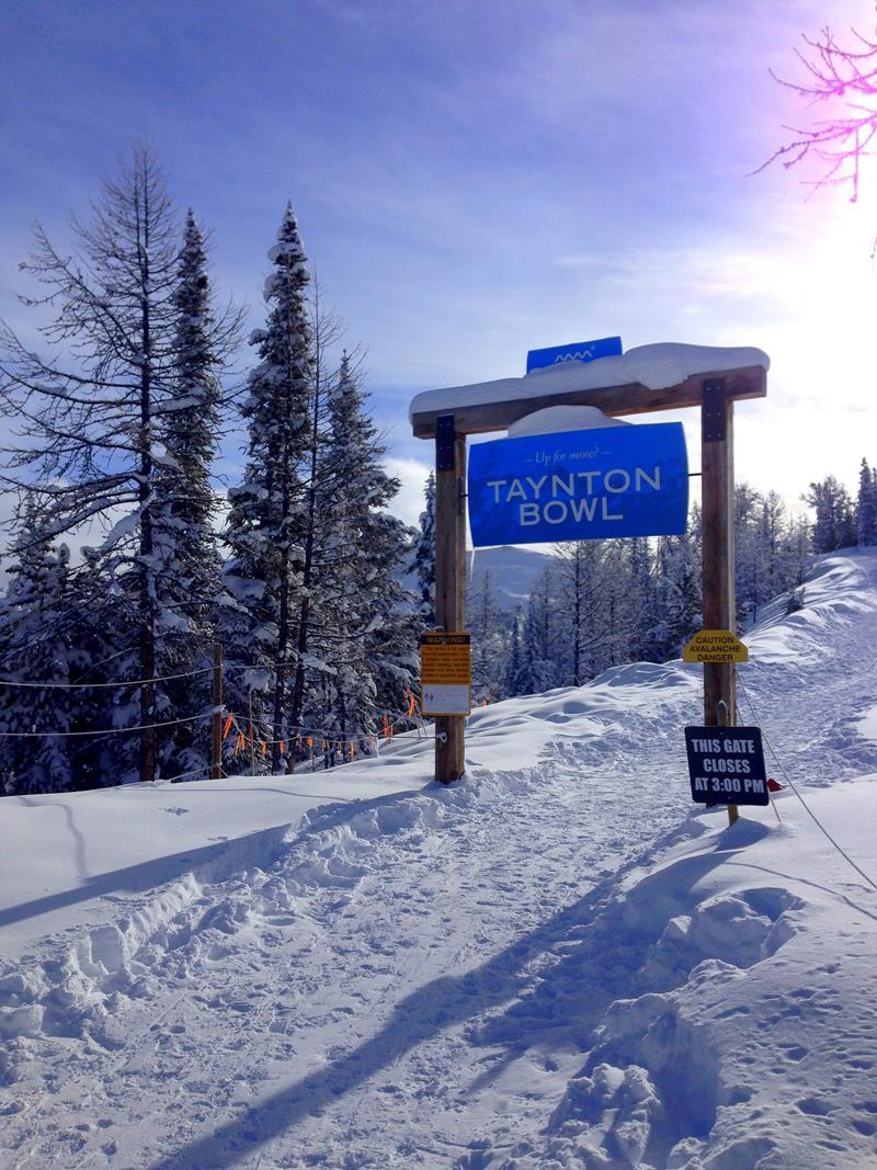 Zugang zum Taynton Bowl, dem Herzstück des Panorama Mountain Resort