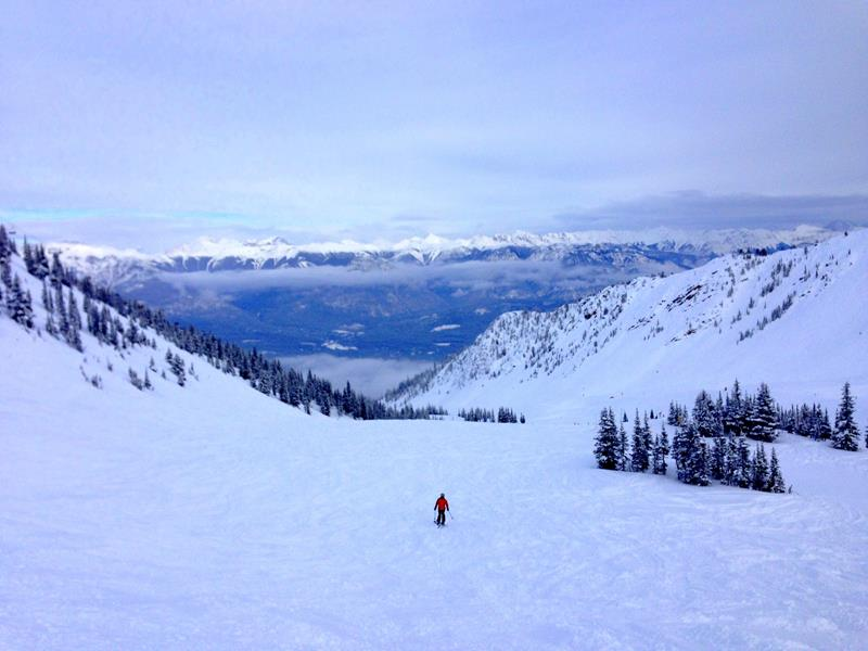 Toller Ausblick in den Bowl in Kicking Horse, British Columbia