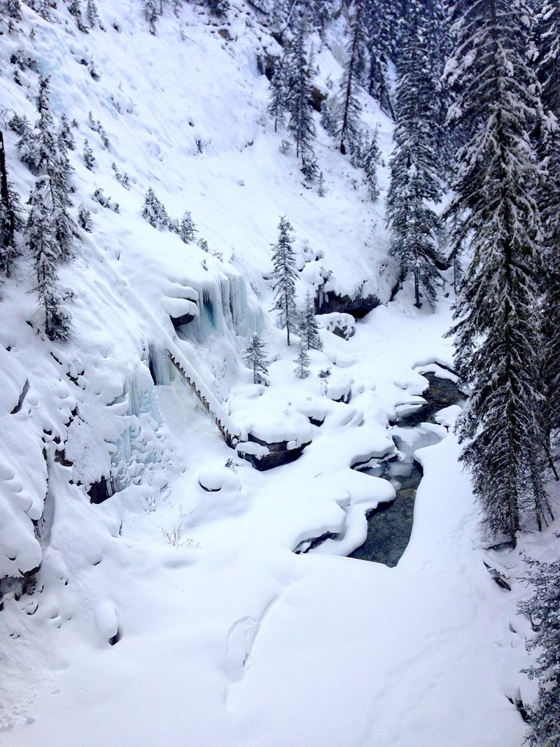 Der Johnston Canyon im Banff National Park in Alberta, Kanada