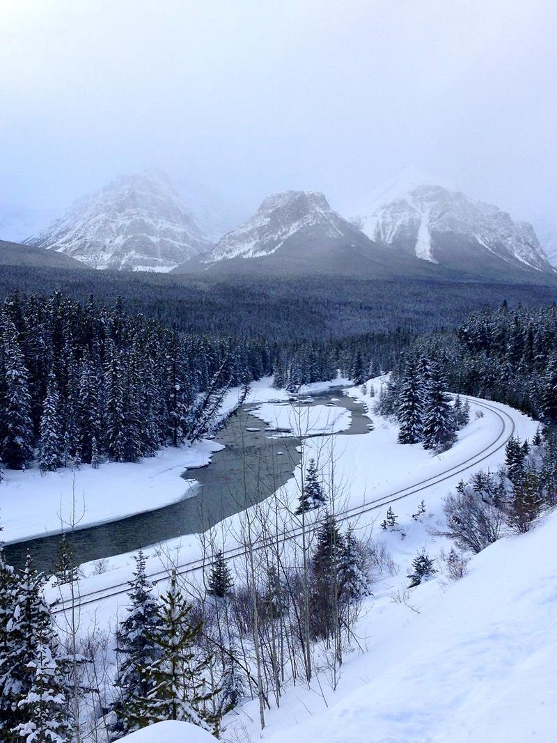 Die berühmte Morants Kurve im Banff National Park