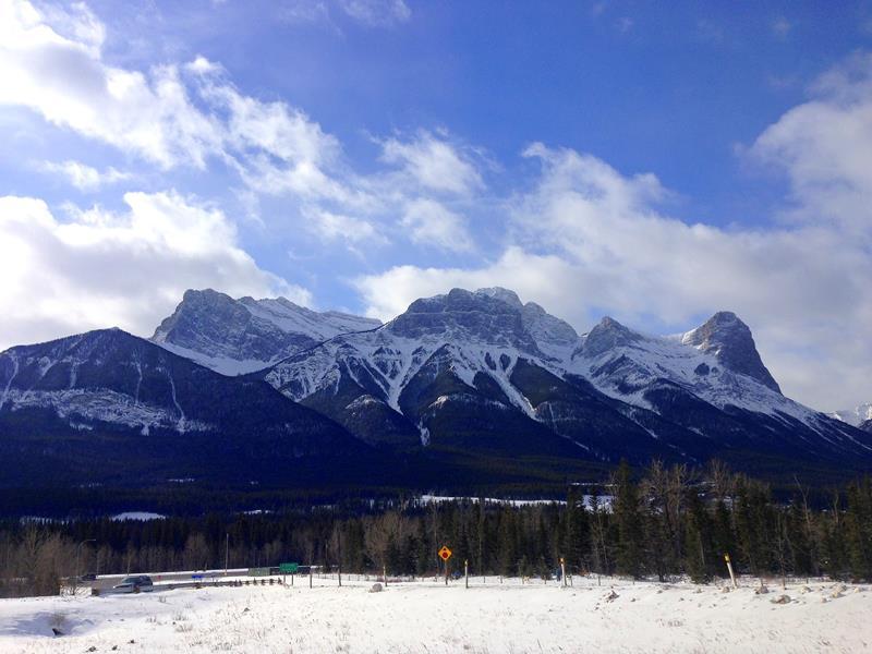Winter in den Nationalparks Kanadas