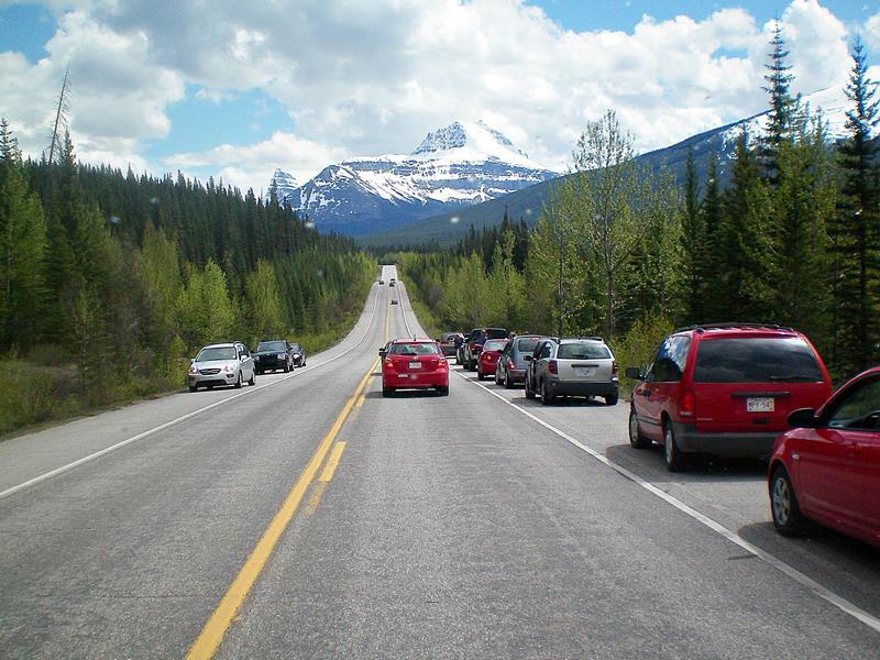 Freiheit mit dem Wohnmobil oder dem Mietwagen am Icefields Parkway in Kanada