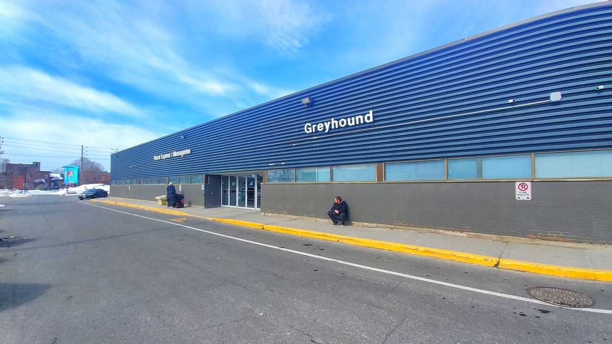Das Greyhound Bus-Terminal in Ottawa