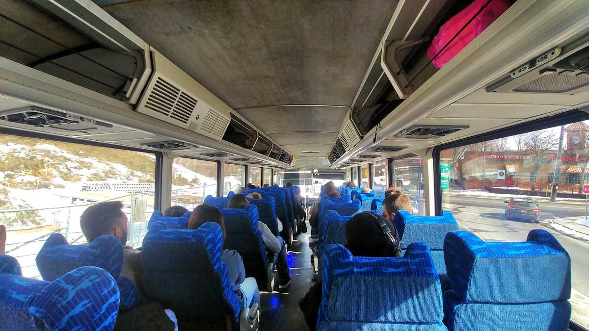 Der Greyhound-Bus von Ottawa nach Montreal