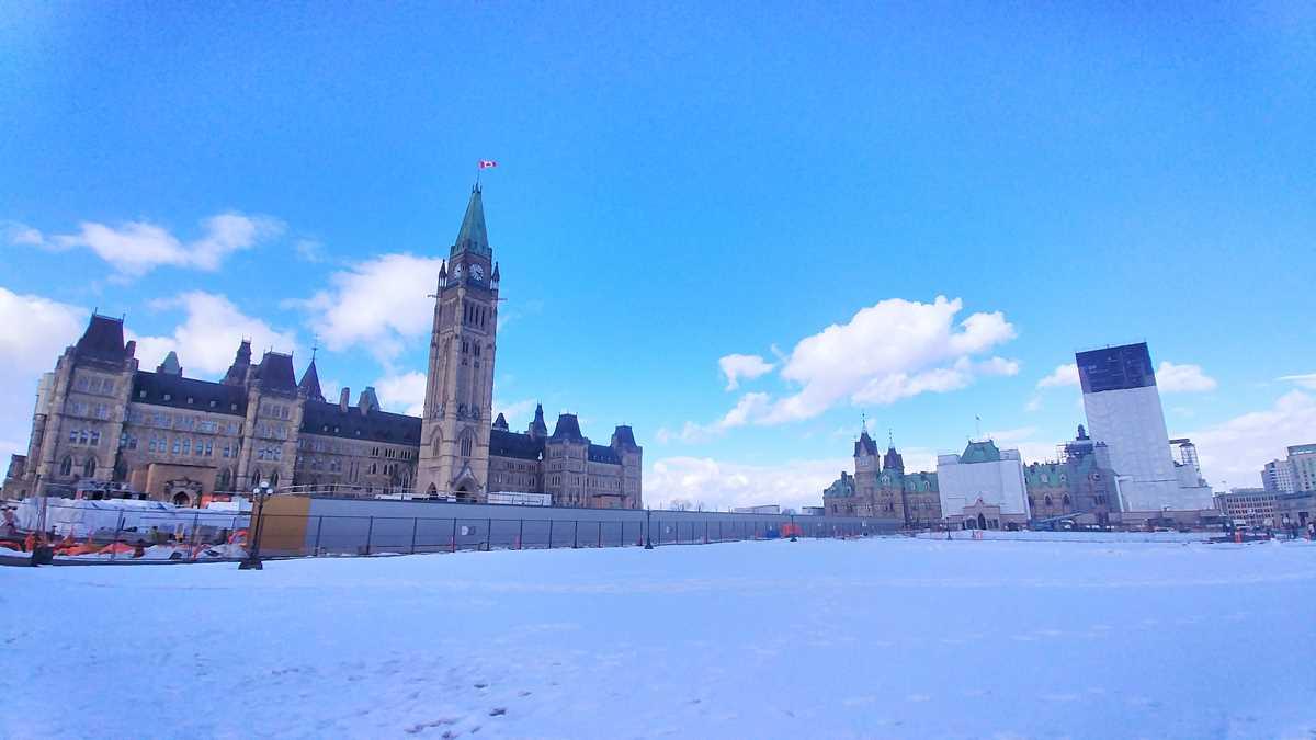Blick auf das kanadische Parlament in Ottawa, der Hauptstadt Kanadas