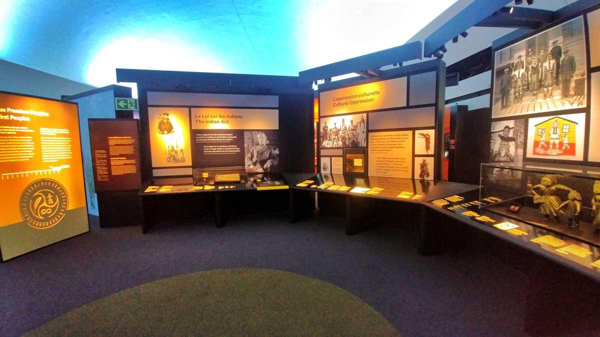 Das kanadische Museum für Geschichte in Gatineau nahe Ottawa
