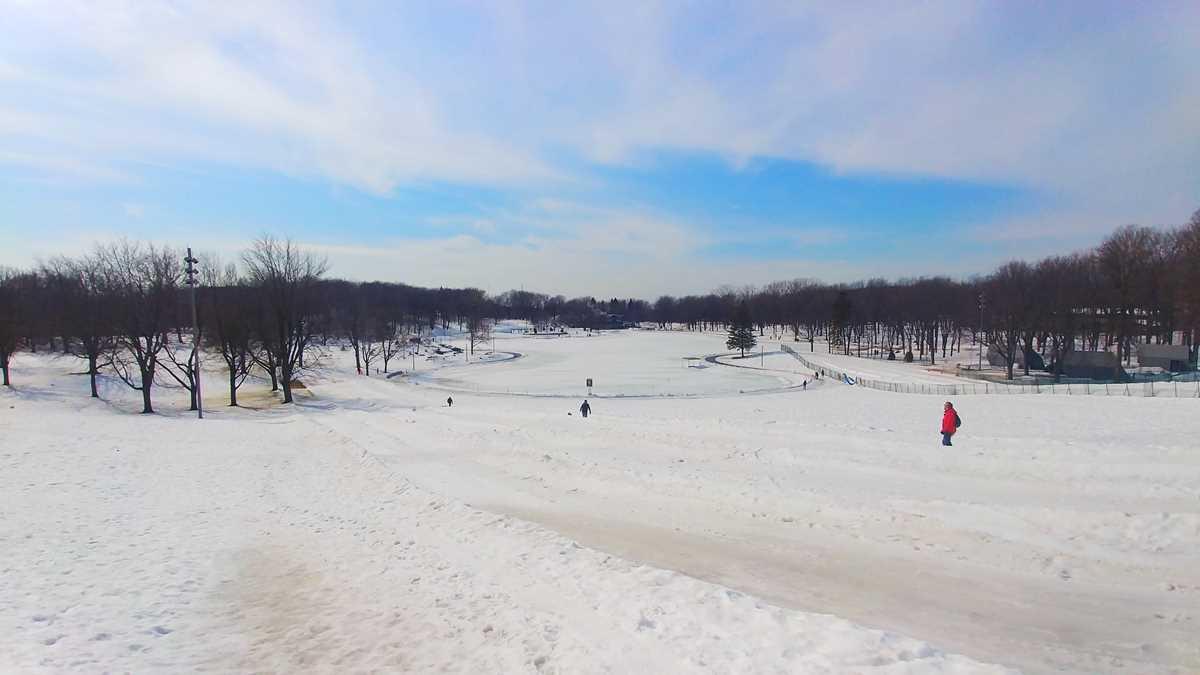 Der große Park du Mont Royal in Montreal