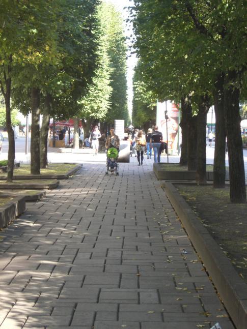 Die 1,7 Kilometer lange Freiheitsallee in Kaunas