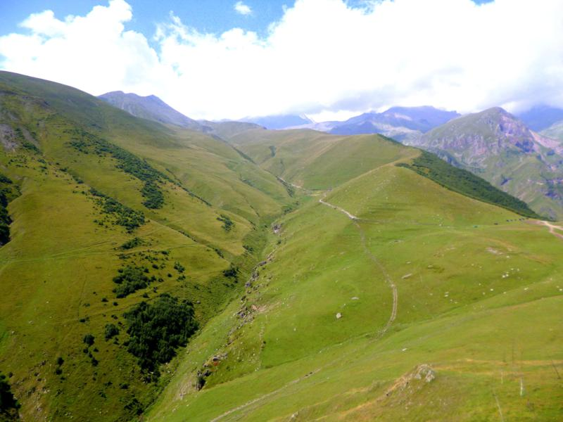 Blick auf den Kasbek - mehr als 5000 Meter hoch
