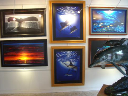 Eine der typischen Galerien auf der Duval Street in Key West