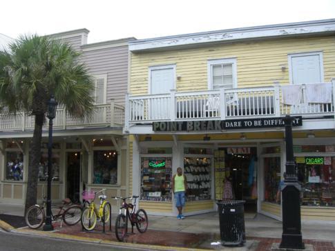 Blick auf die Duval Street in Key West