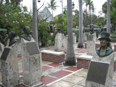 Der Key West HistoricMemorial Sculpture Garden mit vielen bekannten Größen