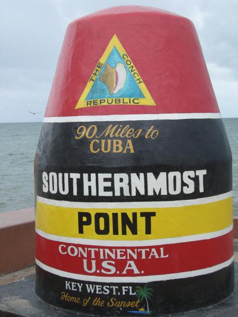 Der berühmte, aber eigentlich faktisch falsche Southernmost Point der Kontinental-USA