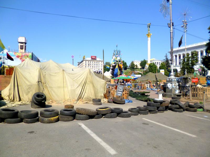 Der Maidan - wichtigster und (neu)historischster Platz in Kiew