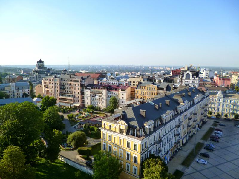 Der Ausblick vom Glockenturm des Kiewer Höhlenklosters
