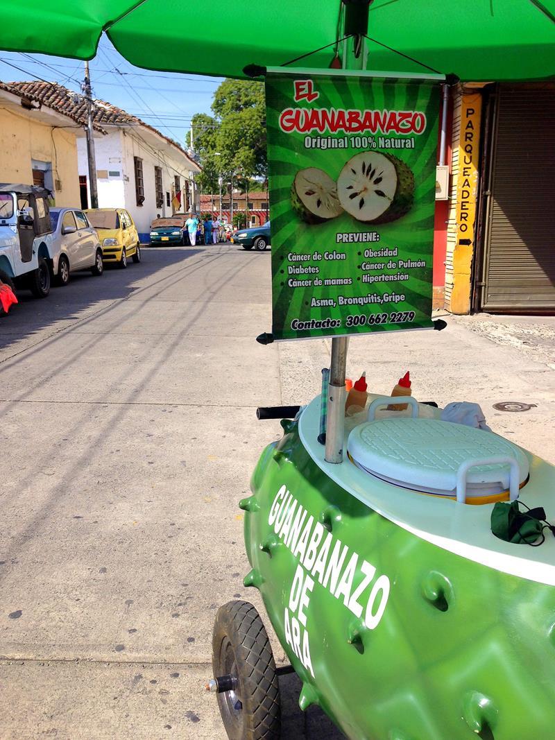 Leckerer Guanabana-Saft in Buga nördlich von Cali