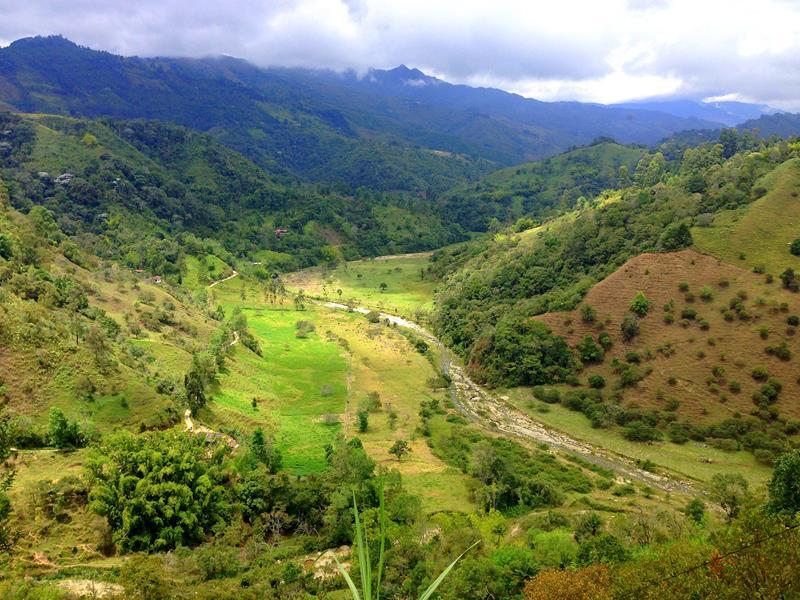 Weg von Salento zur Kaffeefarm Finca El Ocaso