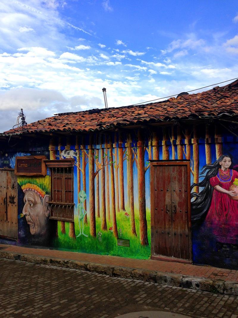 Street-Art in der historischen Altstadt von Bogota - La Candelaria