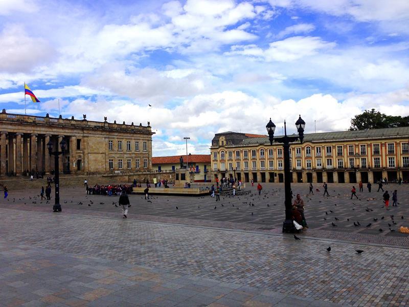 Der Plaza del Bolivar im Zentrum von Kolumbiens Hauptstadt Bogota
