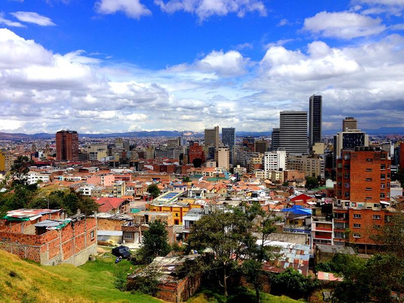 Toller Ausblick auf das Zentrum von Bogota
