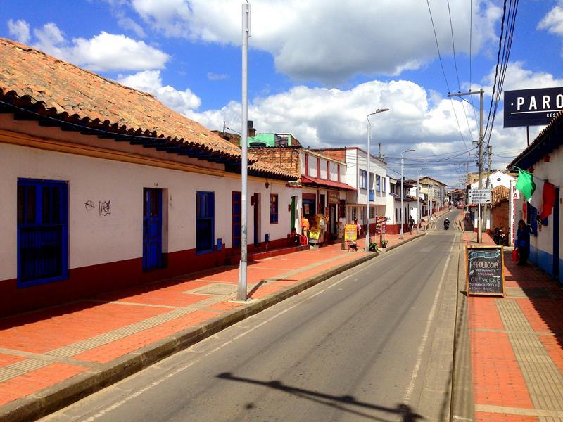 Der hübsche Ortskern von Zipaquira im Norden von Bogotá