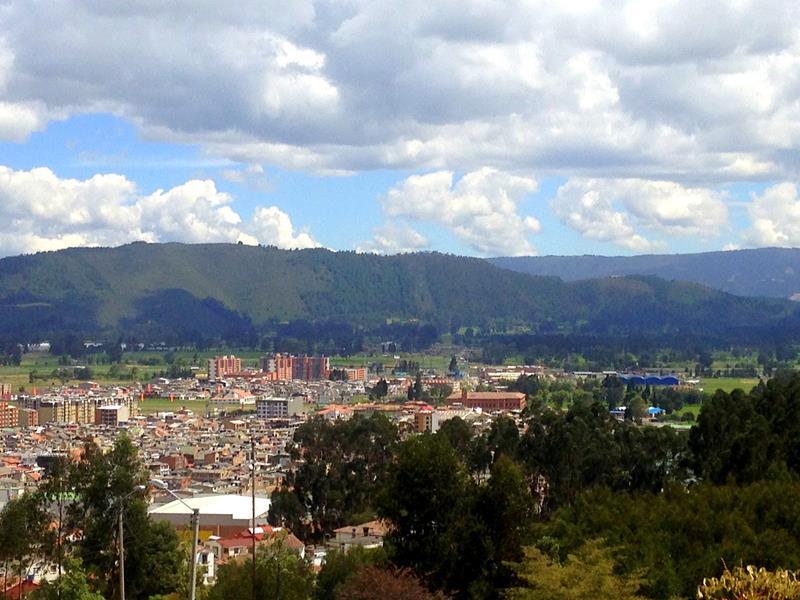 Ausblick von der Salzkathedrale auf den Ort Zipaquira