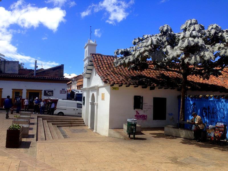Der Plazoleta Chorro de Quevado, der wohl historischste Platz von Bogota