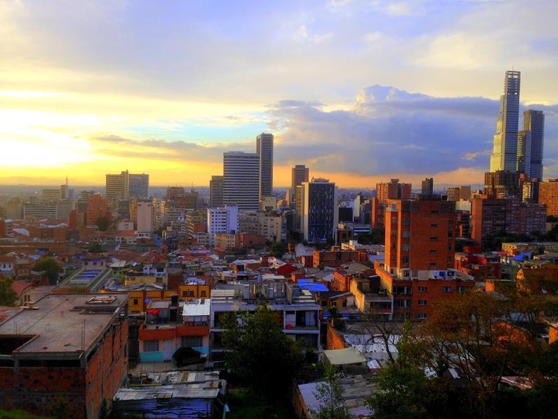 Toller Ausblick bei Abendsonne auf Bogota