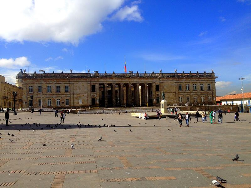 Der Plaza de Bolivar in Bogota