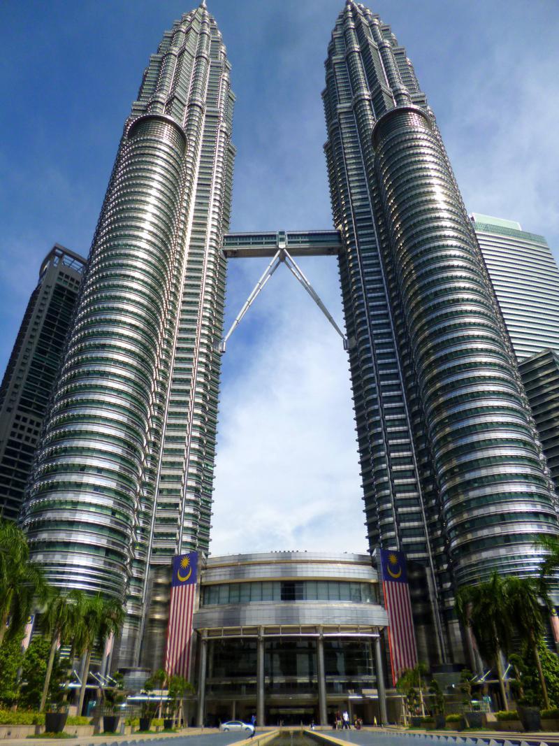 Die Petronas Towers sind die höchsten Gebäude in Kuala Lumpur