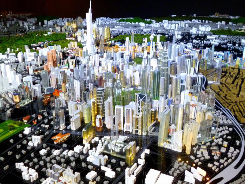 Sehr interessantes Modellprojekt in der Kuala Lumpur City Gallery