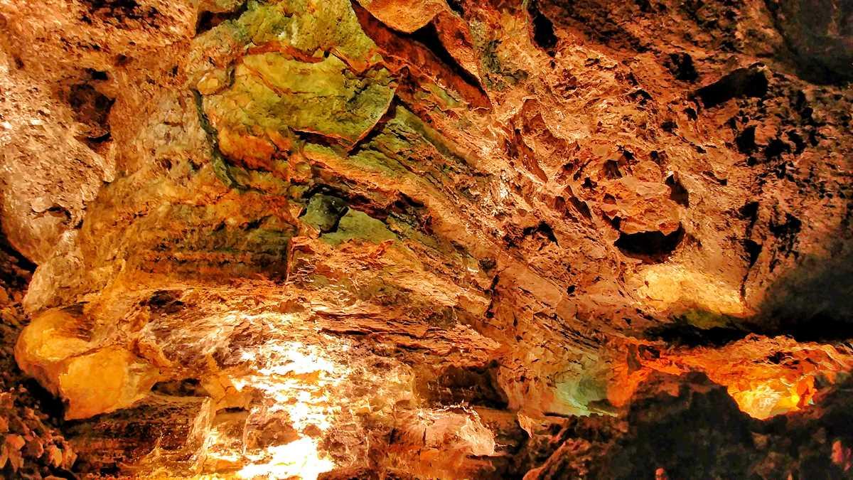Die Cueva de las Verdes, eine der Attraktionen und Sehenswürdigkeiten auf Lanzarote