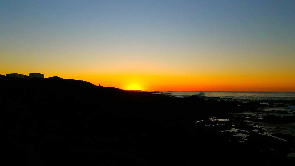 Toller Sonnenuntergang in La Santa im Osten von Lanzarote
