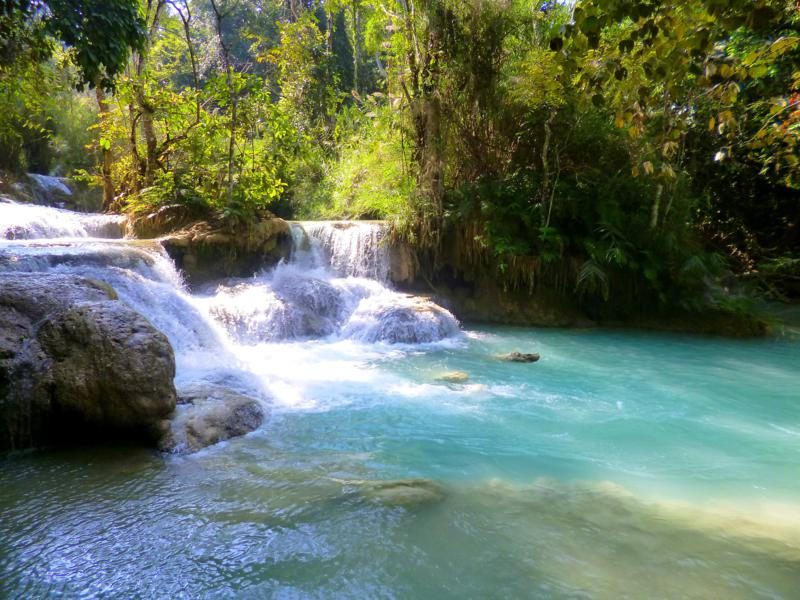 Der Kuang Xi Wasserfall - eine der schönsten Plätze in ganz Laos