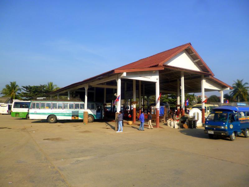 Das südliche Busterminal von Luang Prabang
