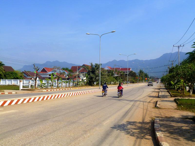 Sainyabuli, ein kleiner Ort in Laos am Mekong