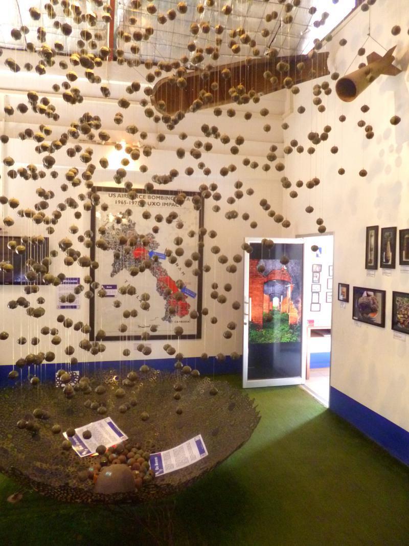 Das Uxo-Museum in Laos' Hauptstadt Vientiane - beeindruckender kann Geschichte nicht dargestellt werden
