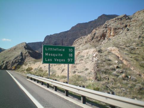 Auf dem Interstate Nr. 15 nach Las Vegas