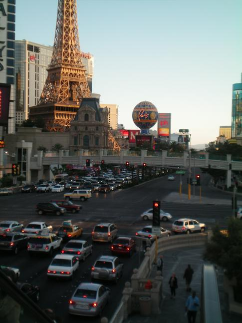 Erster Blick auf den Las Vegas Boulevard: The Strip